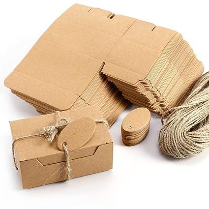 Anladia Juego de 50 cajas de dulces para decoración de bodas, regalos, etiquetas de