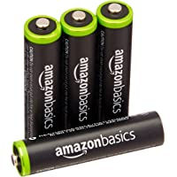4-Pack AmazonBasics AAA Rechargeable Batteries Pre-charged