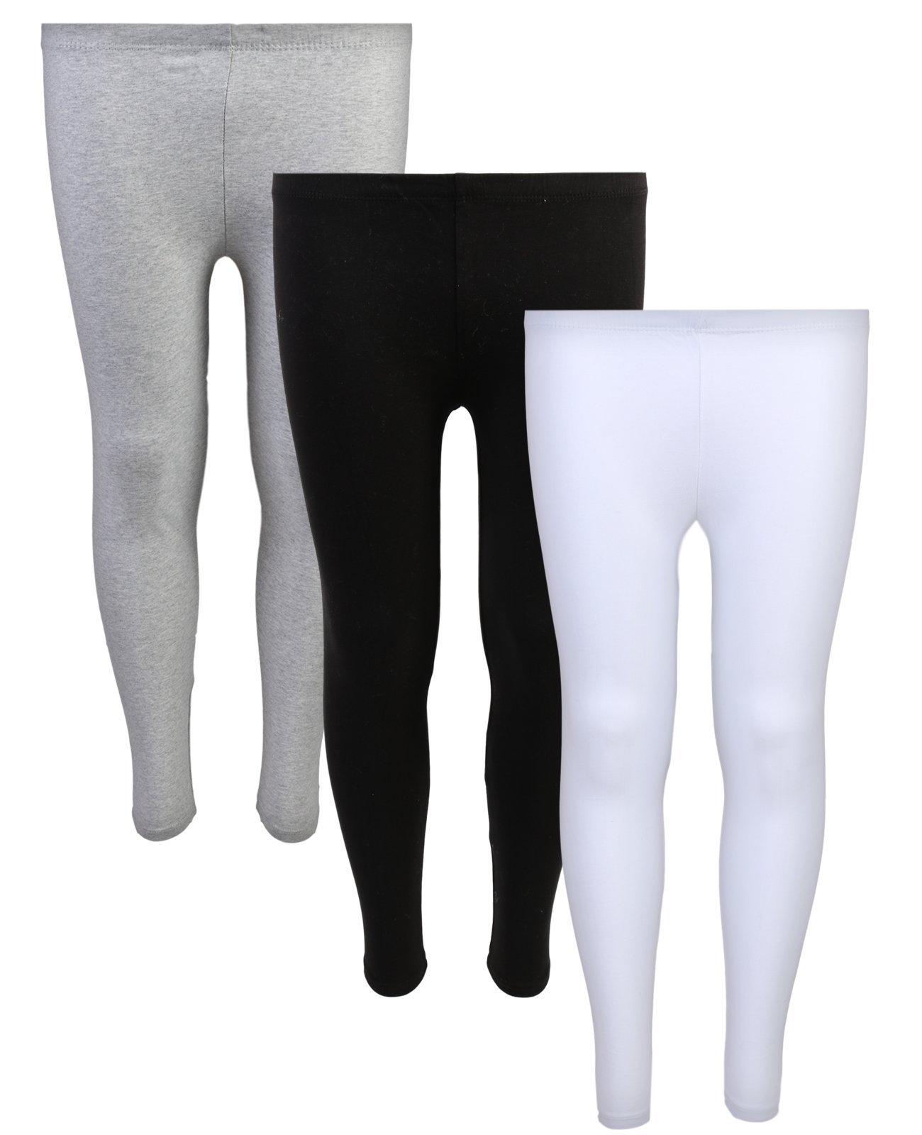 Delia's Girls Solid Leggings (Pack of 3) Black, Grey & White, 14/16 by dELiA*s