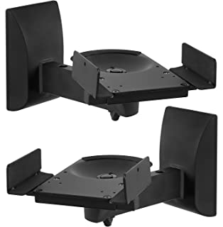 Mount It Speaker Wall Mounts Pair Of Universal Side Clamping Bookshelf Mounting