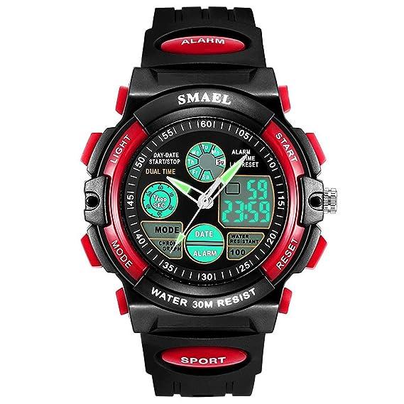 Daesar Reloj Hombre Reloj de Doble Pantalla Reloj Deporte al Aire Libre Reloj Impermeable Reloj Deportivo Reloj Montañismo Reloj Impermeable Relojes ...