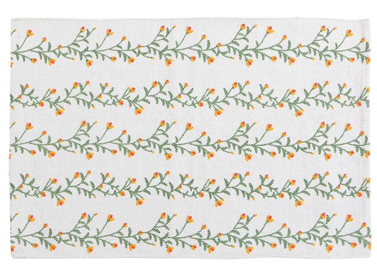 KASA Alfombra Decorativa Flores 60x90CM