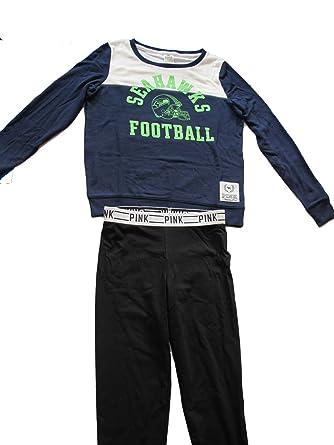 Victoria s Secret PINK NFL Seattle Seahawks Varsity Sweatshirt   Pants Set  ... d2c5a50bd