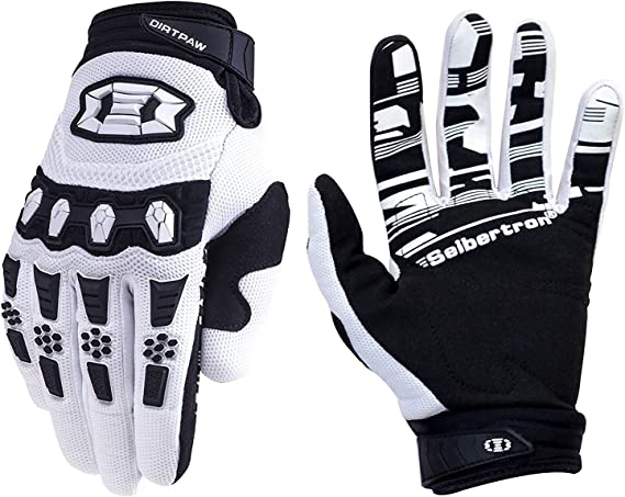 Seibertron Dirtpaw Unisex BMX MX ATV MTB Racing Mountain Bike Bicycle Cycling Off-Road/Dirt Bike Gloves Road Racing Motorcycle Motocross Sports Gloves Touch Recognition Full Finger Glove