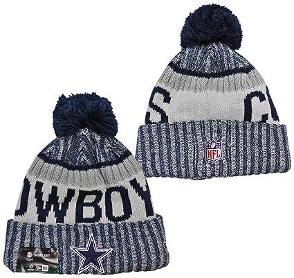 2d38a3fe760 New Era Dallas Cowboys 2017 On-Field Side Line Knit Beanie Hat Cap White