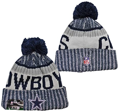 New Era Dallas Cowboys 2017 On-Field Side Line Knit Beanie Hat Cap White 89c9d5bab