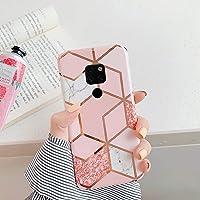 Uposao Compatibel met Huawei Mate 20 Marble Pink