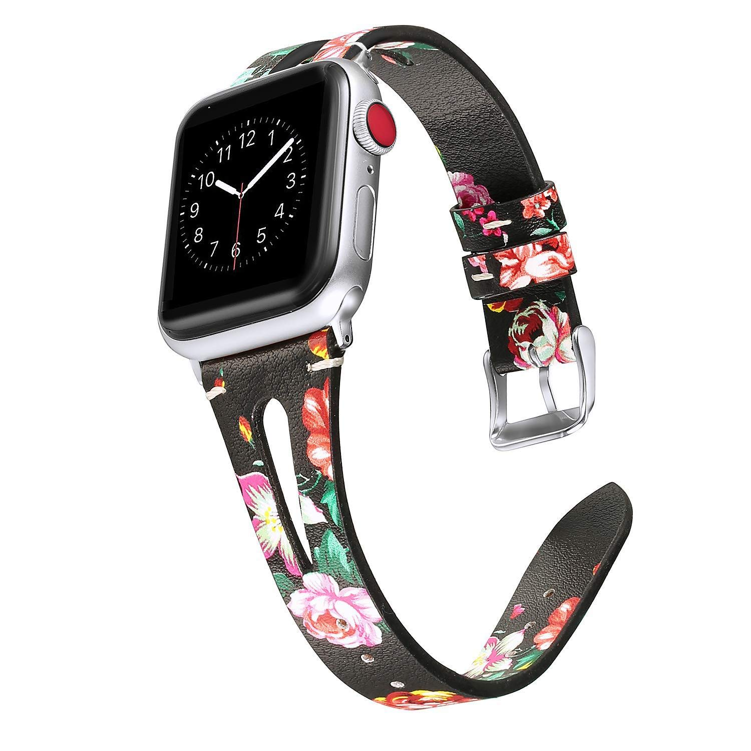 New for Apple Watch Band 38mm 38 for 3 4 Bands 4s S2 for Apple Watch Band 40mm for Apple Watch 40mm Band Watch Holder for Women 44 44mm for Apple Watch Band I for Apple Watch (Red Floral, 38mm40mm)