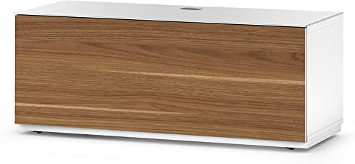 SONOROUS Studio ST-110B Wood and Glass TV Stand