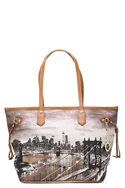 Borsa Y Not stampa East River 336 New York  Amazon.it  Scarpe e borse 2aaf15db47f