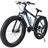 Gorunning Fat Tire Mens Mountain Bike, High-Tensile Steel Frame, 7-Speed, 26-inch Wheels, Fashion Outdoor Sports City…