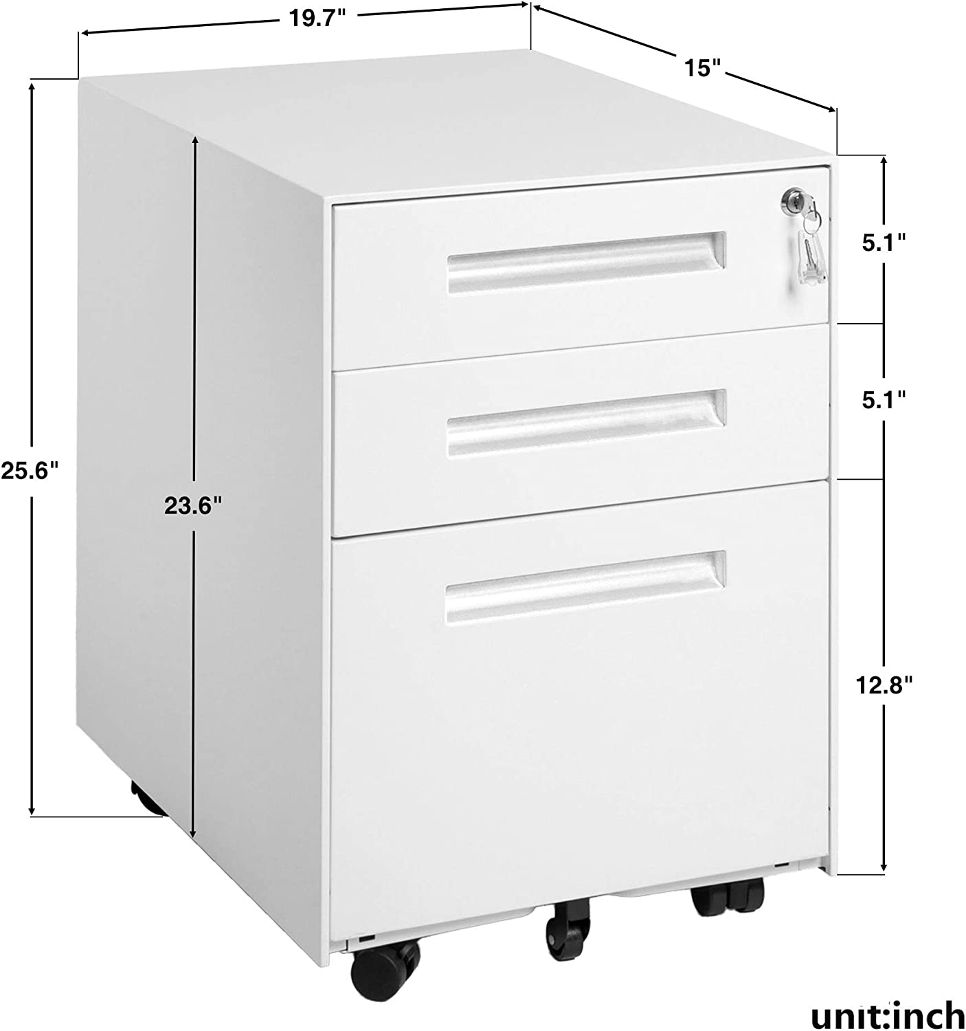 Amazon.com: Steel File Cabinet with 33 Drawers and Keys Lock Mobile