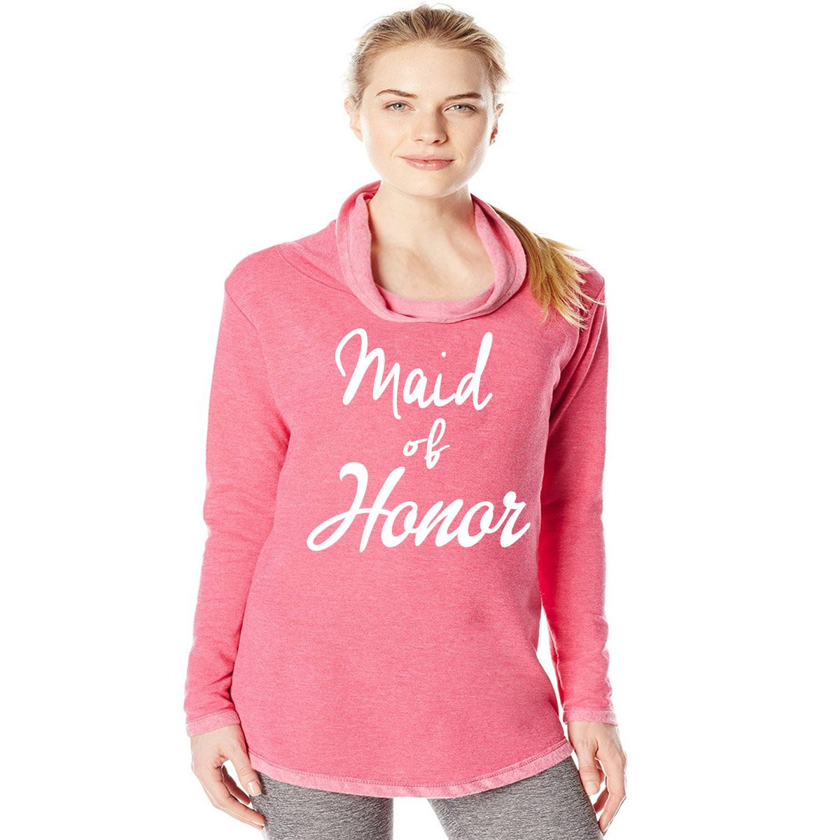 Super Soft Cotton Shirt Blend Womens Maid of Honor Sweatshirt Queen Apparel