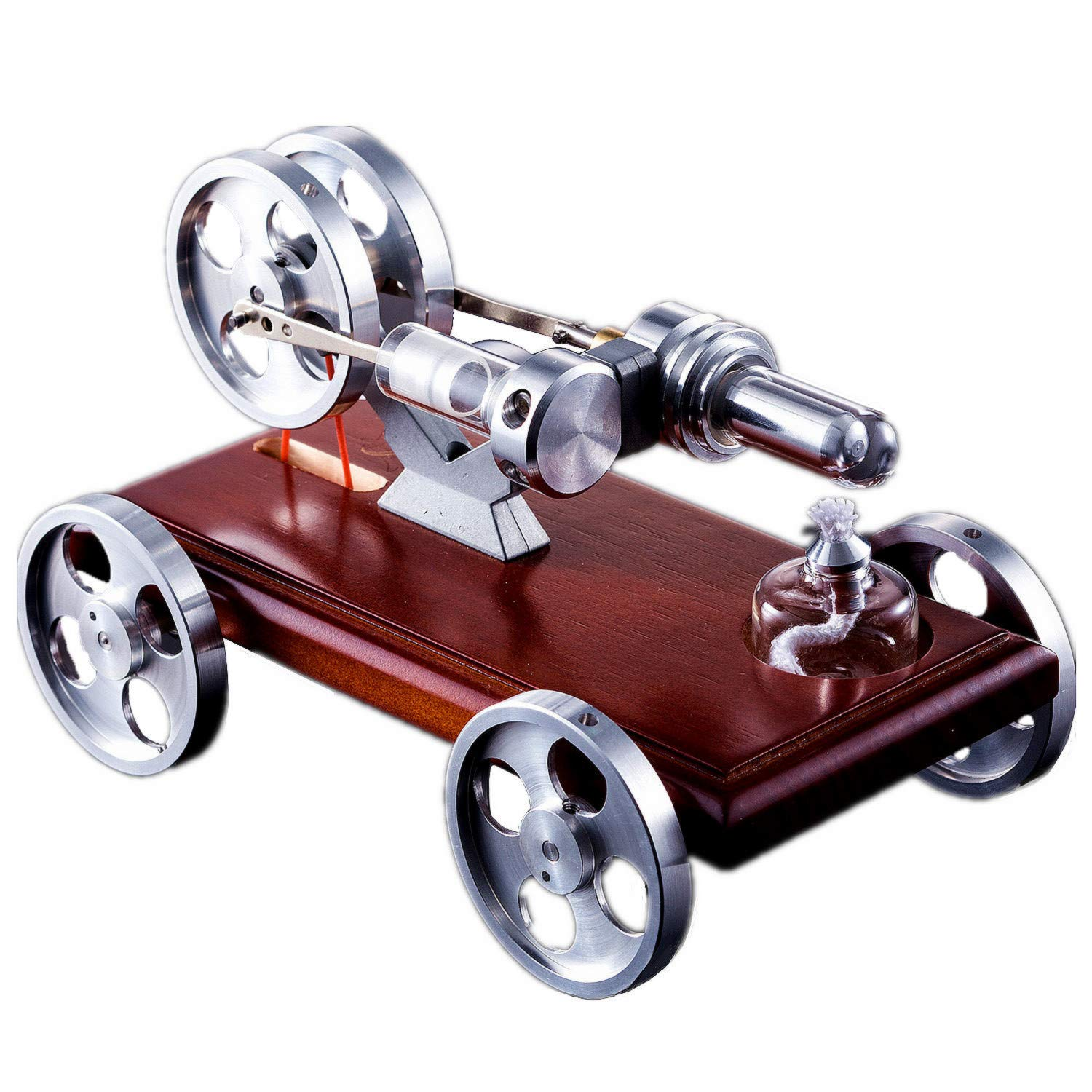 Funcoll C1 Stirling Motor Vehicle Model, Stirling Engine Car Prototype Model Scientific Model Toy