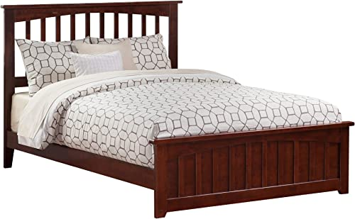 Atlantic Furniture Mission Traditional Bed, Queen, Antique Walnut