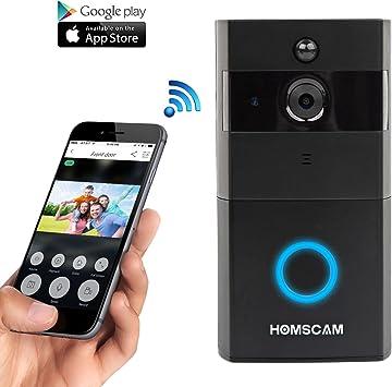 HOMSCAM Vídeo portero con WiFi con sensor bidireccional de sonido ...