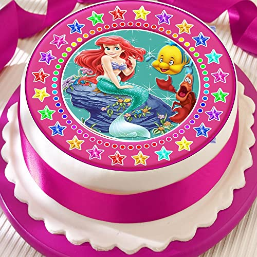 Edible Little Mermaid Cake Decorations
