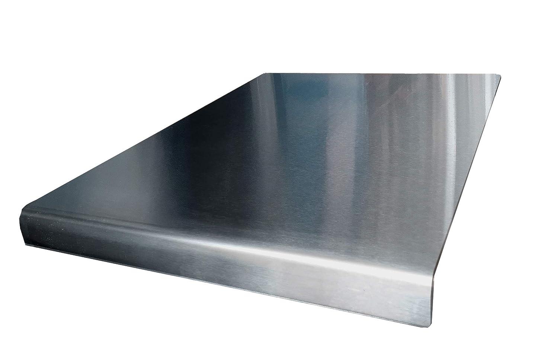 Protector de encimera de acero inoxidable para cortar bordes cuadrados, plano o redondo, ver todos los tamaños de variación + precios (incluye pies de ...