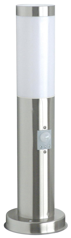Smartwares RX1010-45S Gartenleuchte – Edelstahl – Bewegungsmelder – E27-Sockel – 45cm Ranex GmbH RX 1010-45S