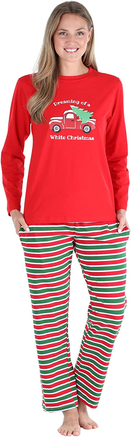 SleepytimePJs Christmas Family Matching Pajamas Knit Red Green Striped PJ Sets
