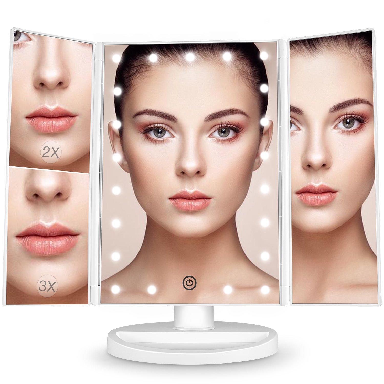 Specchio per trucco ingranditore 3x 2x 1x illuminato con rotazione 180 21 ebay - Specchio trucco illuminato ...