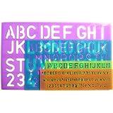 9e896e2cbe YOTINO Stencil Lettere 4 Pezzi Normografo Stencil di Alfabeto per ...