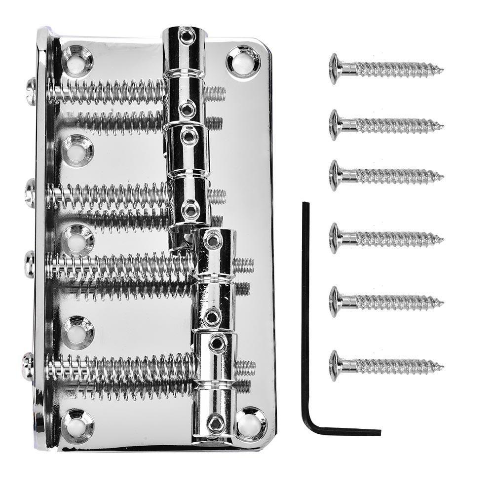 4-string Bass Guitar Bridge, Metal Guitar Bridge Replacement Parts for Electric Bass Guitar(Black) Dilwe Dilwep158k3udtr-02