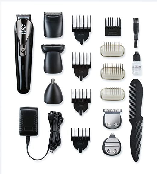 Beard Trimmer For Men, Facial Hair Trimmer For Men, Face Trimmer For Men, Beard Trimmer Kit For Men, Moustache And Sideburn Grooming Kit By Vincent Verne