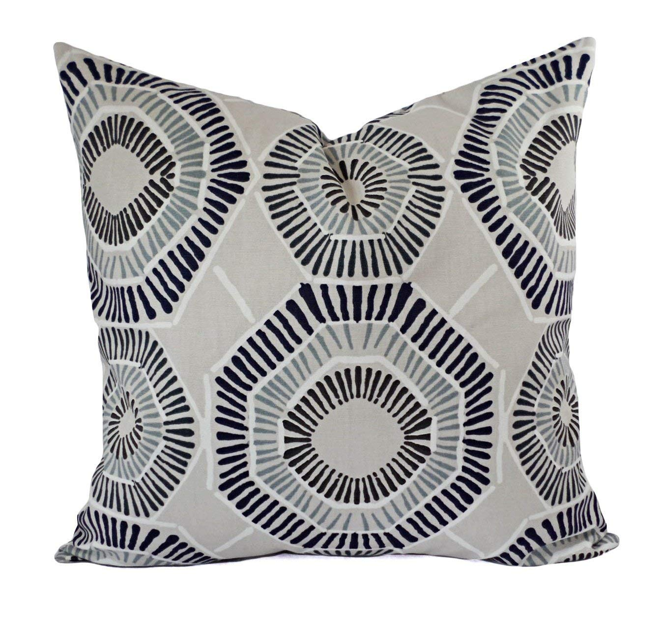 Amazon.com: Gray Taupe Navy Brown Pillows   Modern Pillow Cover