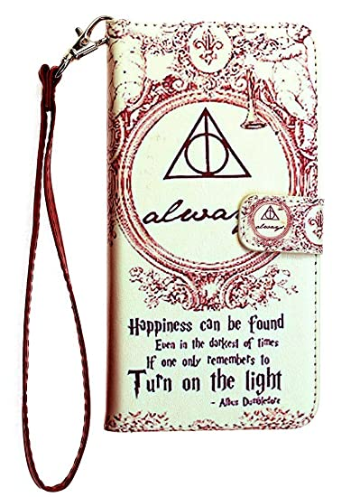 new concept d98c1 5e6ec iPhone 8 Plus Wallet Case, DURARMOR Harry Potter Hogwarts Deathly Hallows  Map Premium PU Leather Wallet Case with ID Credit Card Cash Slots Flip  Stand ...