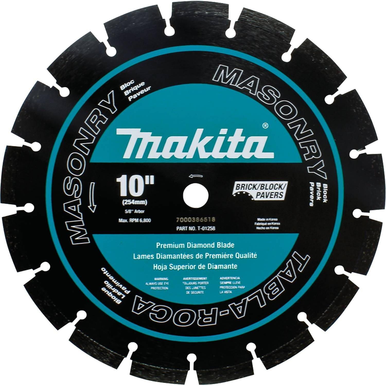 Disco de Diamante MAKITA T-01258 Albañilería segmentado con de 10 pulg.