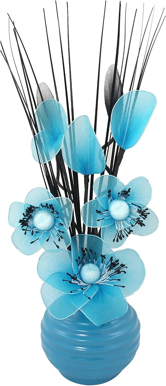 Flourish Creative Florals 5055278722814 Composition Florale Artificielle Polyester 80cm moyen Blanc