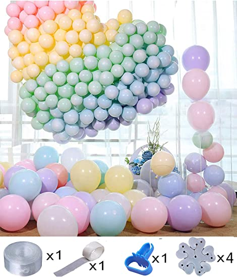 30pcs 5 Inch Macaron Color Pastel Candy Balloons Round Birthday Party Arch Wall