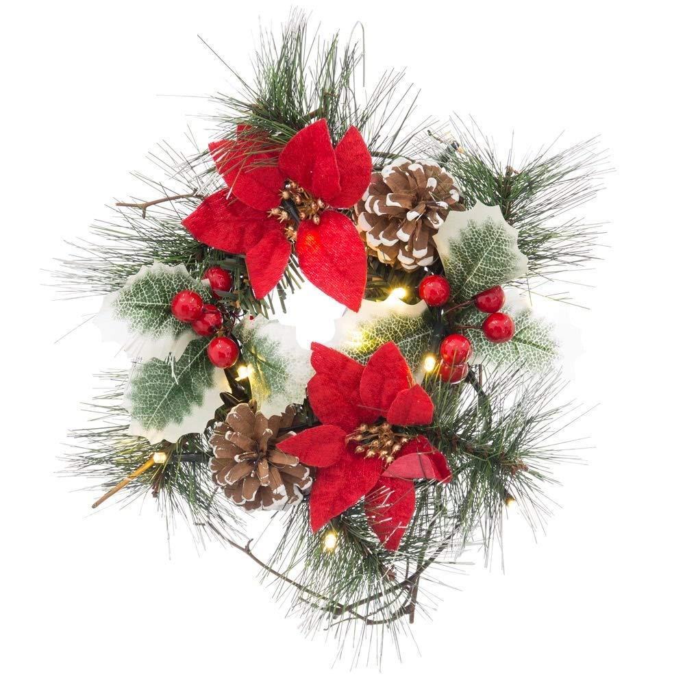 Centro de Mesa de Navidad clásico Rojo de led para decoración ...