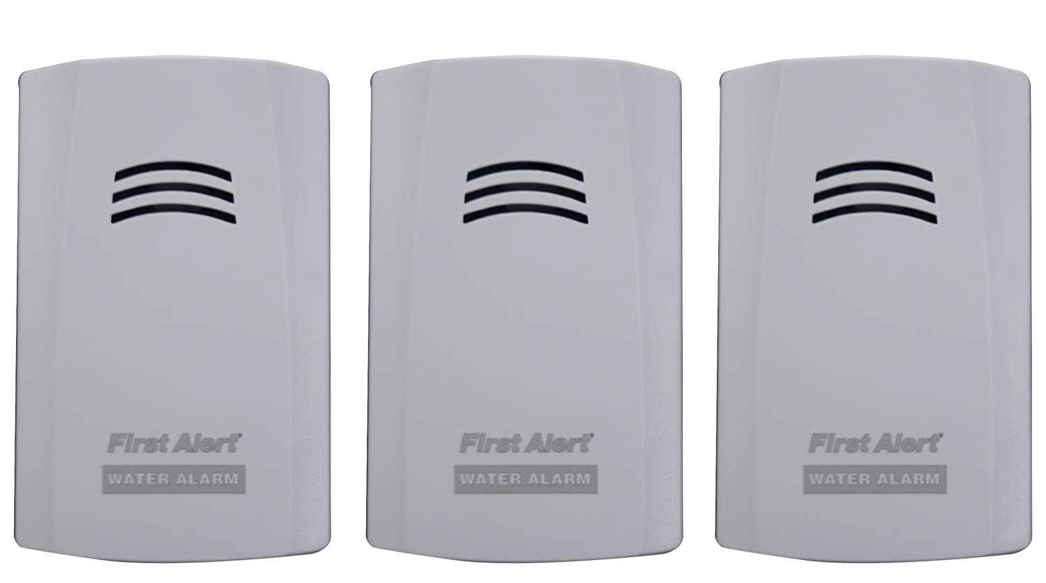 First Alert WA100 3 Water Alarm for Leak Detection and Flood Alerts 3 Pack