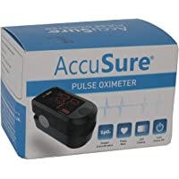 MICROGENE Fingertip Pulse Oximeter Accusure (White and Black)