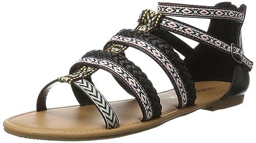 Womens 315721 Gm S10213 Leather Pu Gladiator Sandals Buffalo U9weue4f