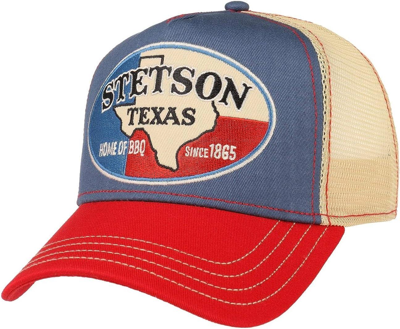 Stetson Gorra Trucker Texas Home of BBQ Mujer/Hombre - de Beisbol Baseball Malla Snapback, con Visera, Visera Verano/Invierno - Talla única Beige: Amazon.es: Ropa y accesorios