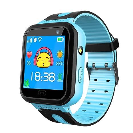 Kids Waterproof Smart Watch Phone - Smartwatch Games Two-Way Call SOS Alarm Clock Camera Smart Watch Touch Screen Children Sports Wrist Watch Birthday ...