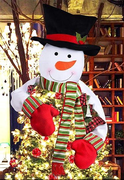 Christmas Tree Topper Ideas.Jbeng Snowman Christmas Tree Toppers Free Cotton Stuffing Snowman Tree Topper Treetops Large Snowman Christmas Tree Ornaments Home Decor Great Tree