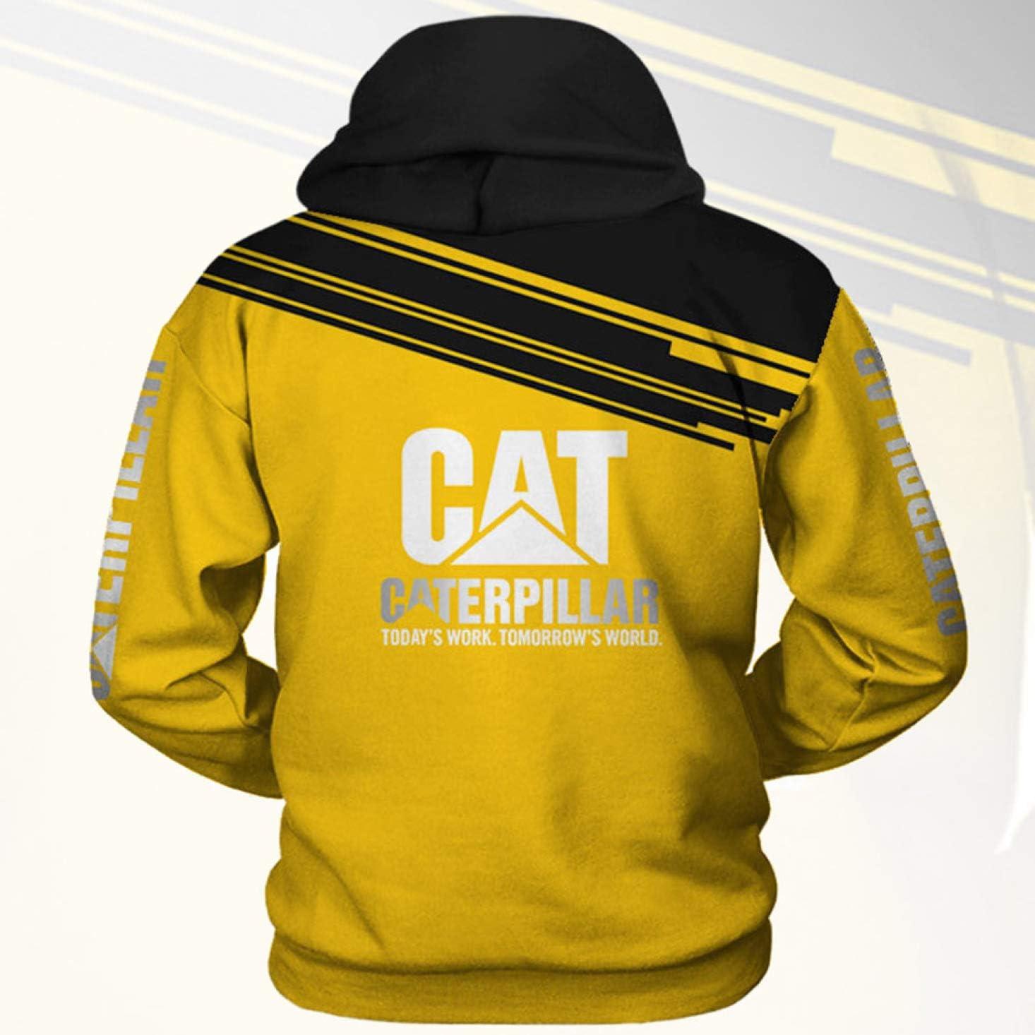 Manga Larga Estampada con Logotipo de Caterpillar Sudadera con Capucha para Hombre RALC 2020 Caterpillar