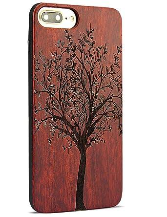 Amazon.com: Carcasa de madera para iPhone 7 Plus.: YF-WOOD
