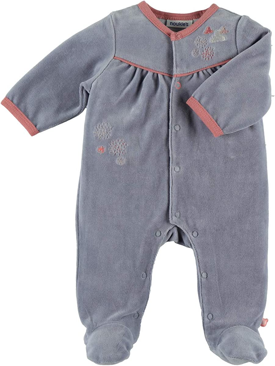 Noukies Noukies Z885133 Pyjama grenouill/ère en Velours B/éb/é Fille