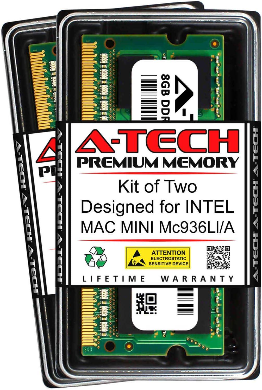A-Tech 16GB (2 x 8GB) RAM for Intel MAC Mini MC936LL/A   DDR3 1333MHz SODIMM PC3-10600 204-Pin Non-ECC Memory Upgrade Kit