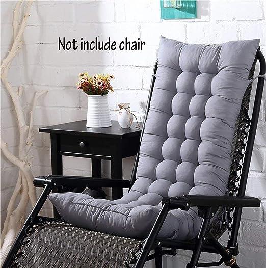 Cojín para silla de respaldo alto, para casa, oficina, viscoelástico, con botones, gris, 128*48*8cm