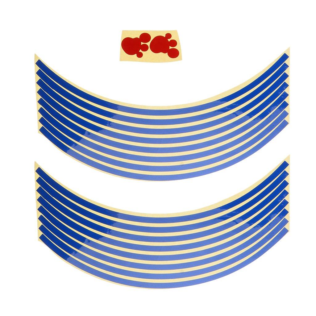 Plata Pegatinas Set Bandas Llantas Reflectantes para Veh/ículos