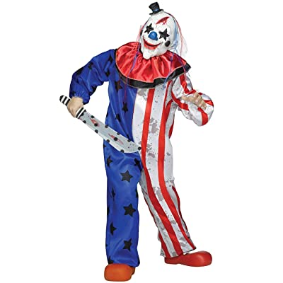Fun World Evil Patriotic Killer Clown Childs Halloween Costume: Toys & Games