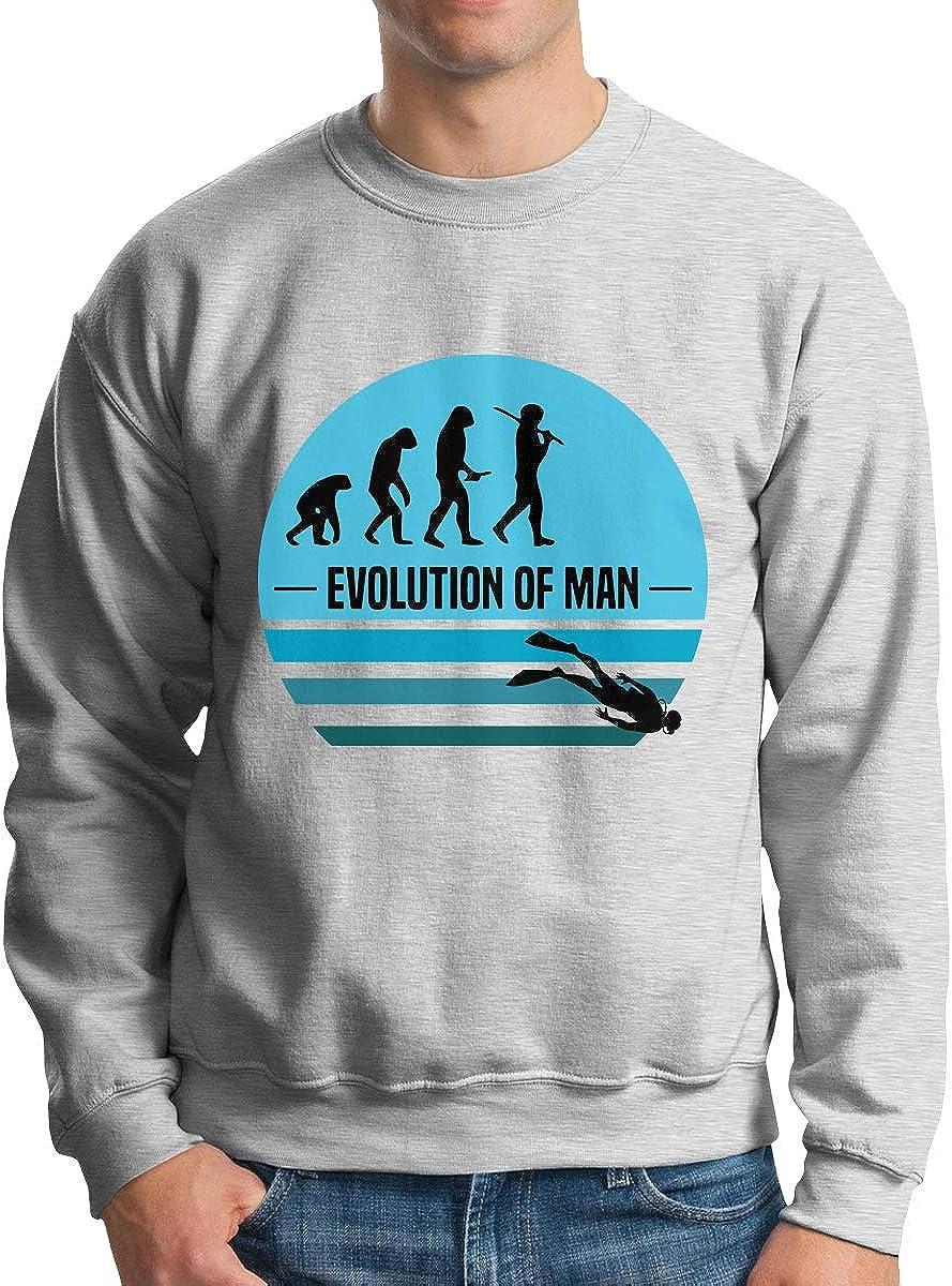 LLiYing-D Kite Surfing Evolution Kite Boarding Adult Mens Casual Long Sleeve Sweater T Shirt