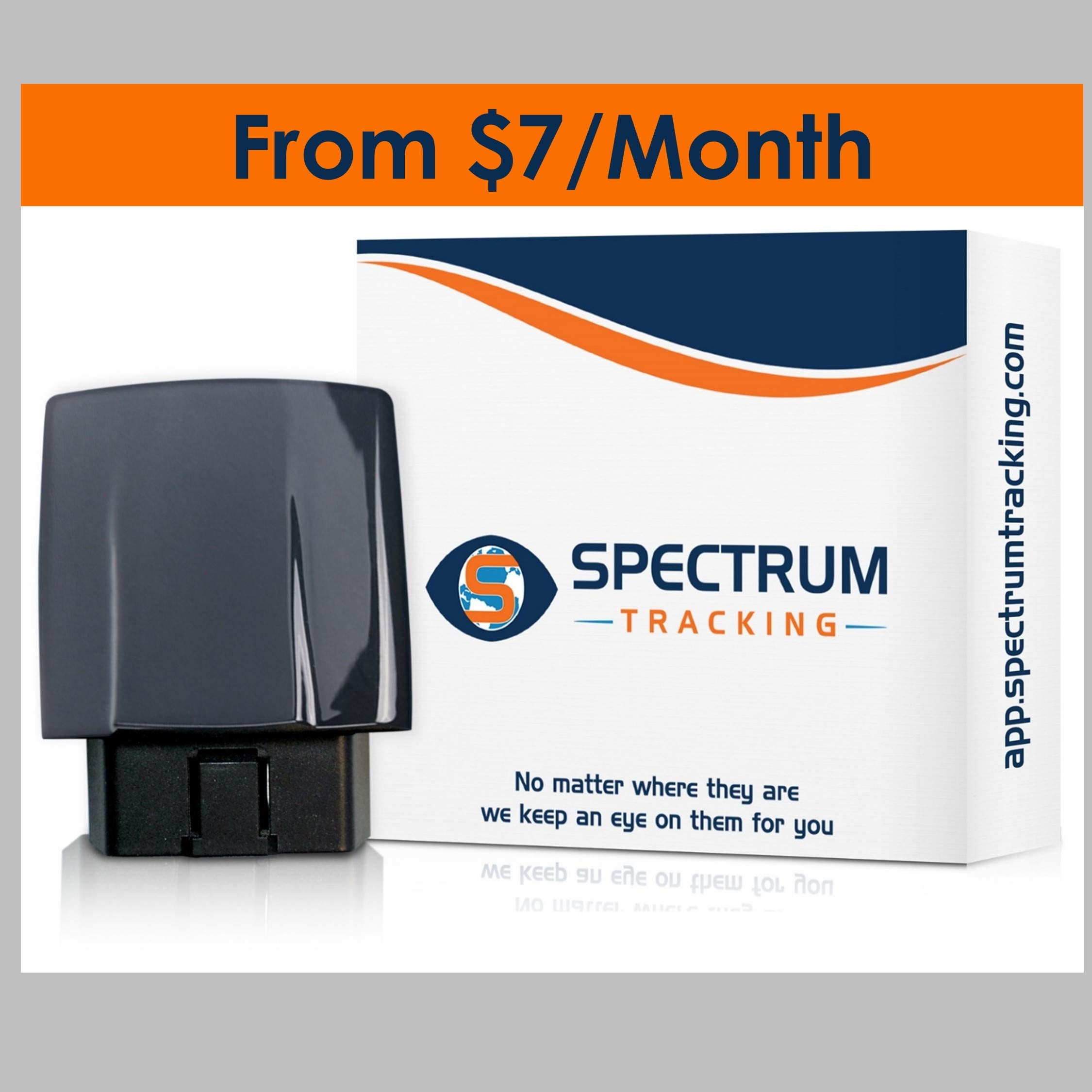Spectrum Smart: OBD GPS Tracker - Track Location | Speed | Fuel | Teen Unsafe Driving - Engine Diagnostics - Alerts, Geo Fences - Teenager, Family, Fleet Tracking