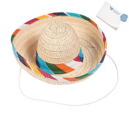 681b8245b Amazon.com: Bargain World Mini Sombrero Hats with String (With ...